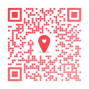 OmiaiのアプリインストールページのQRコード